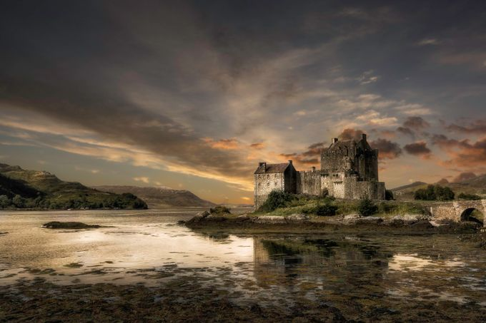 Castle sunset by Dickiebird - Monthly Pro Vol 21 Photo Contest