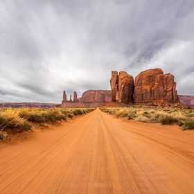 As we were driving along the road to the Monuments in Monument Valley, I noticed how the clouds and the sand looked like they were moving in the ...