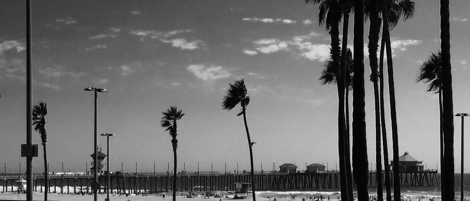 A breezy day at Huntington Beach