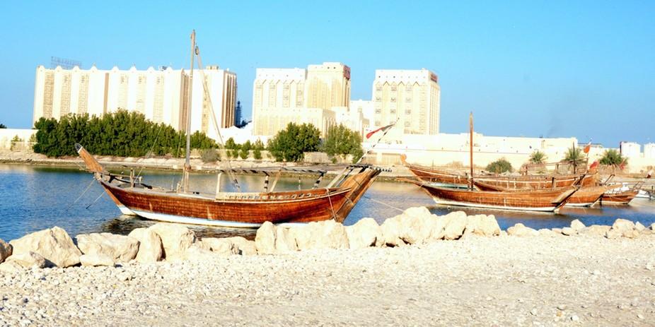 Gondolas at MIA Park, Doha Qatar