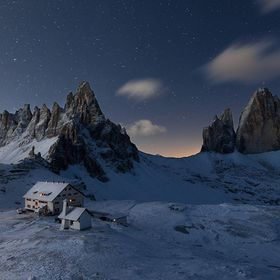 """The Three Silver Tips"" Hy my friend,I am sharing a shoot taken in last fall during an early snowfall in the Dolomites (The three peaks..."