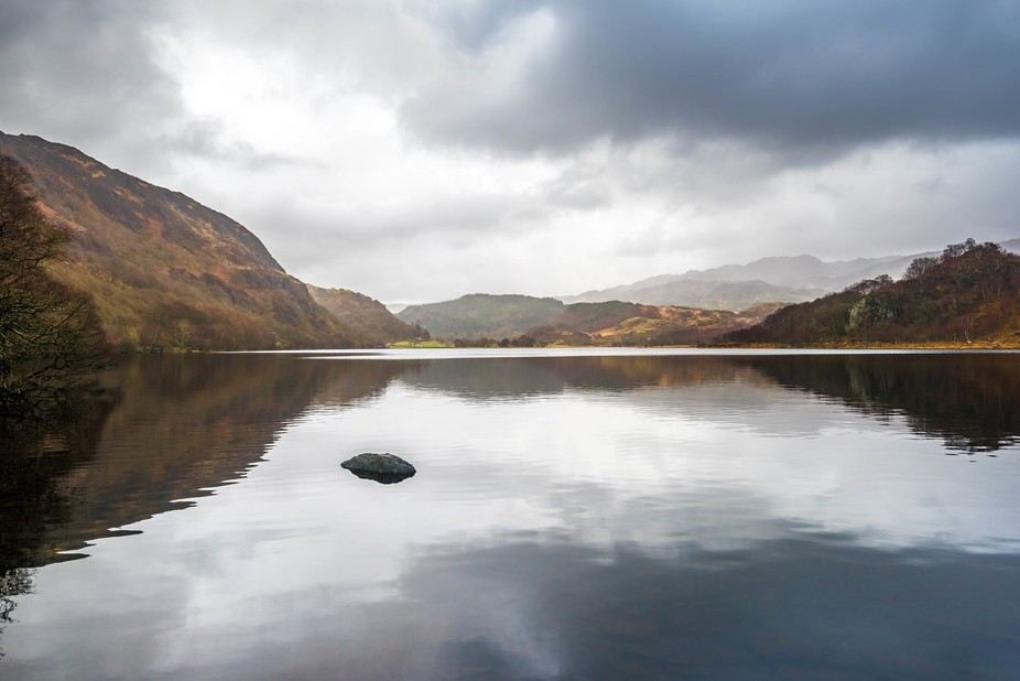 Llyn Dinas, taken in late January 2016 on grey cloudy morning