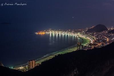 Night coast view