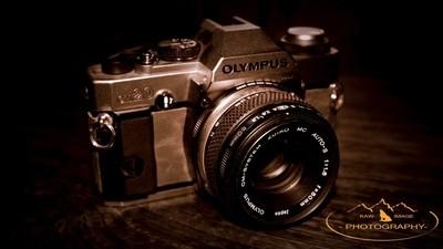 old school SLR camera