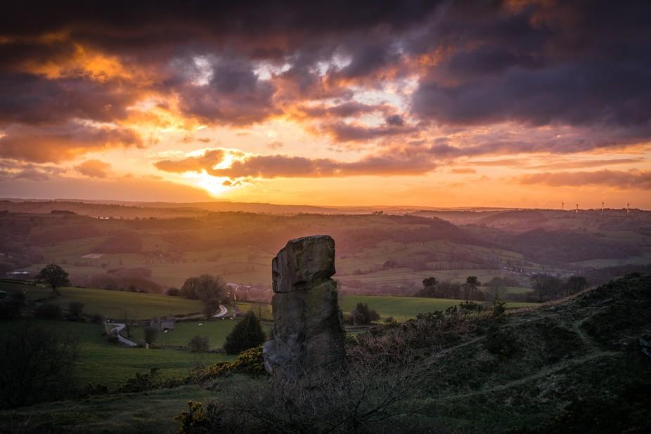 Sunset @Alport Stone,Near Belper, Derbyshire