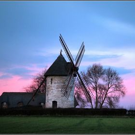 Windmill at Hauville in Normandy, lucky picture taken on the way home. Couldn't help stopping for a shot !