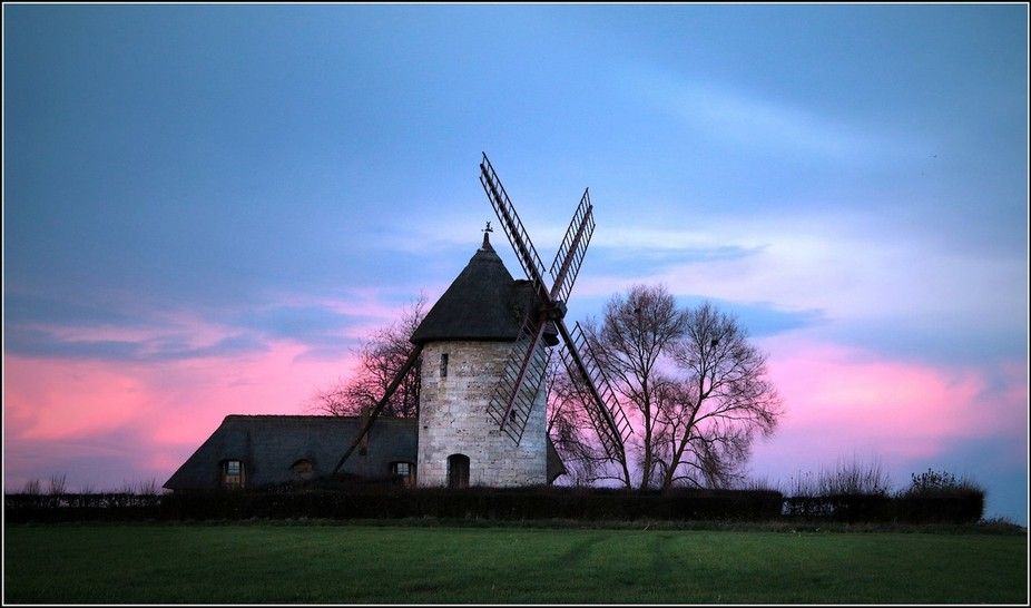 Windmill at Hauville in Normandy, lucky picture taken on the way home. Couldn't help sto...