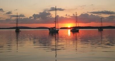 Sunrise over Lake Macquarie