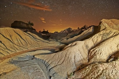 Tatacoa desert at night