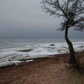 The Gulf of Finland, Kotlin Island. Near St. Petersburg, Russia