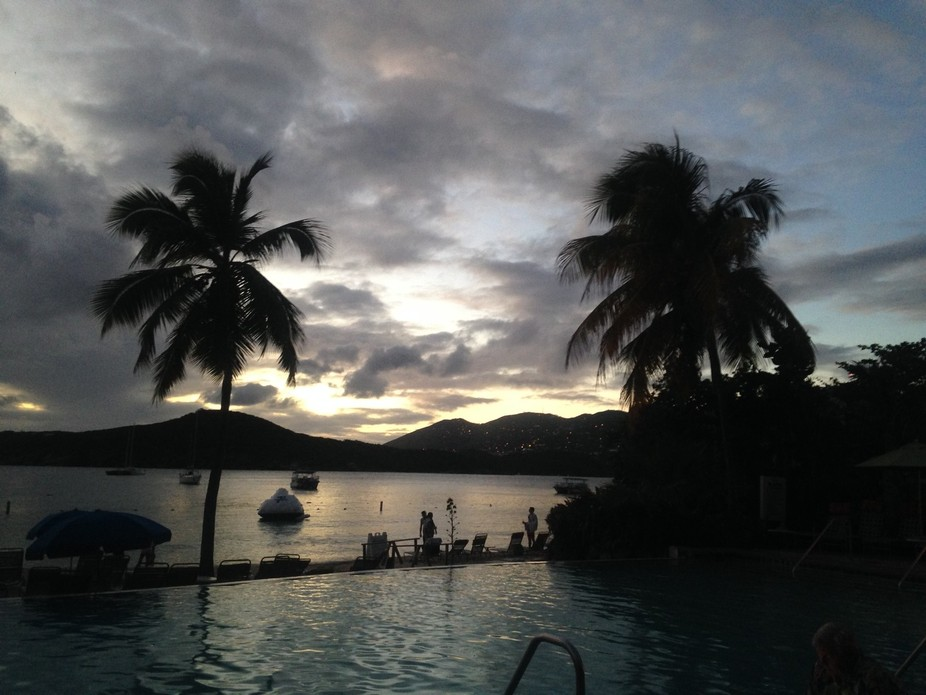 After sunset in St Thomas