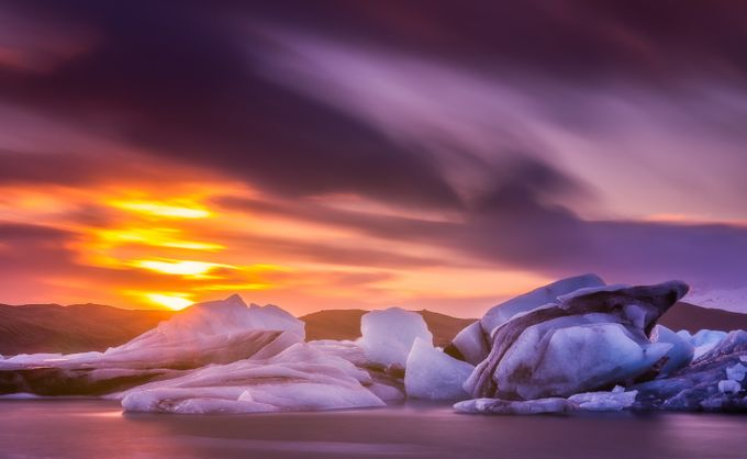 Iceberg Sunset by DerekKind - Bright And Colorful Photo Contest