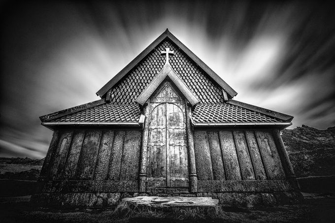 The Old Church by DerekKind - A Black And White World Photo Contest