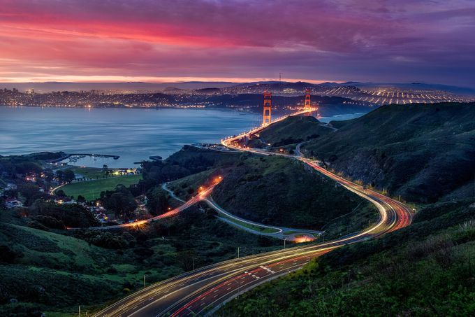 Road to the Golden Gate by niclewisphoto