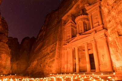 Petra Treasury at Night