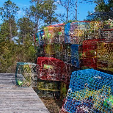 Crab Pots on Pier II