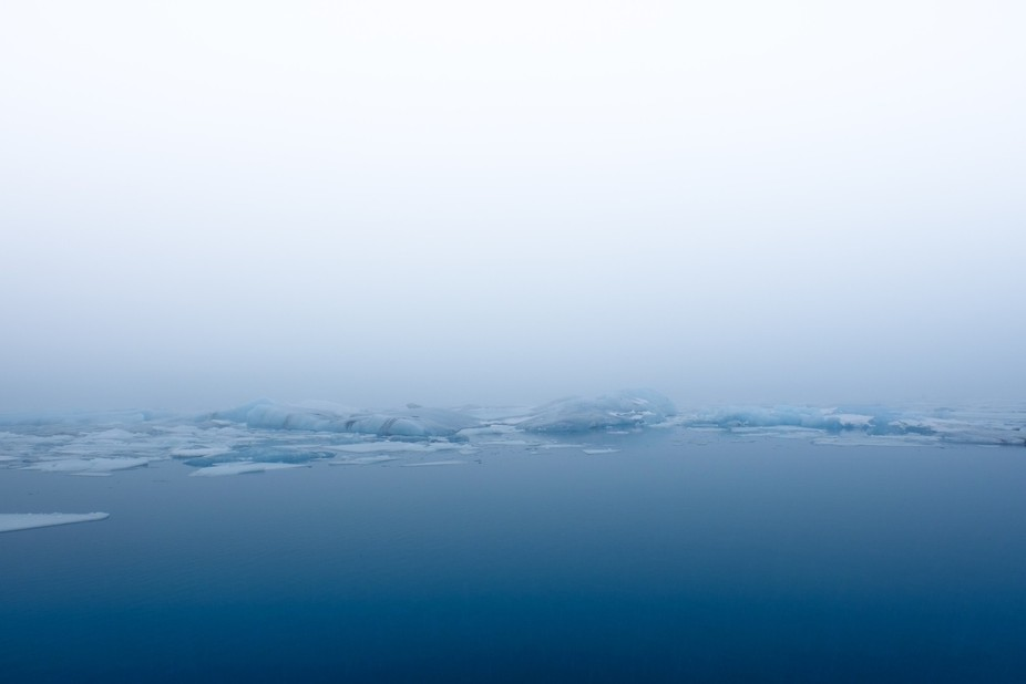 Glacial lagoon on the southern coast of Iceland. Rained all day, but luckily it was coming from t...