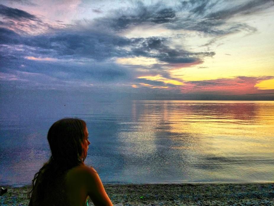 ...an added bonus to a beautiful sunset...