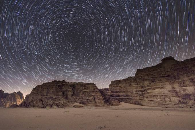 Wadi Rum Star Trail by NatashaHaggard - Long Exposure In Nature Photo Contest