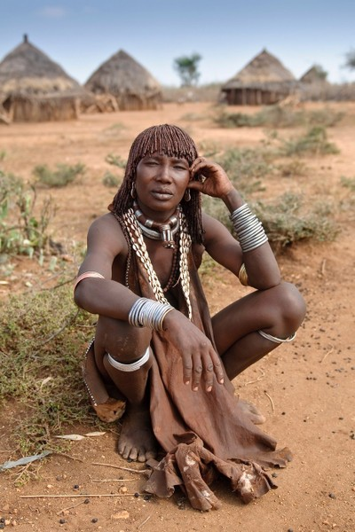 Hamar tribe woman