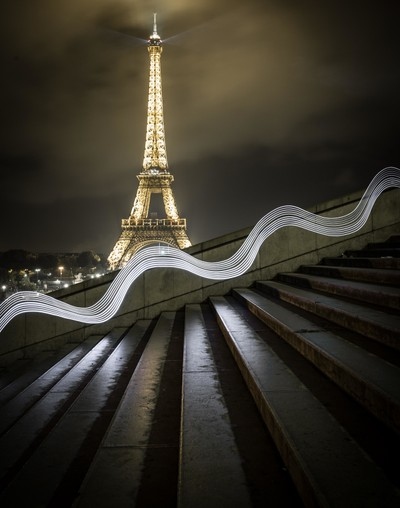 Path of the Paris tourist