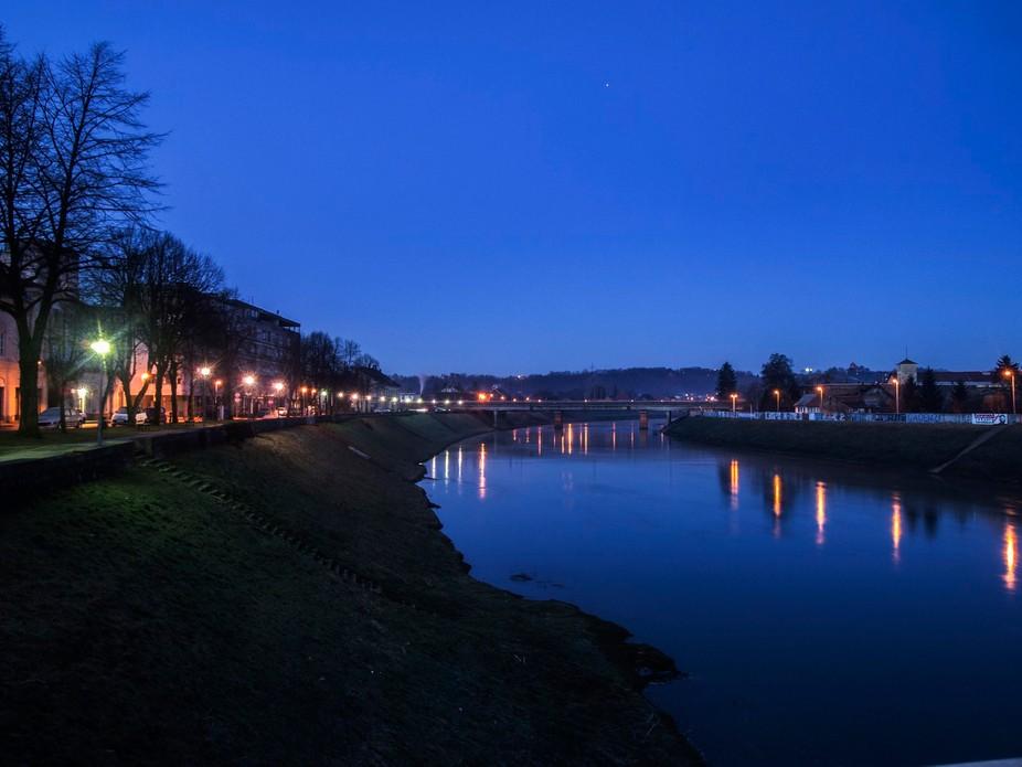 Riverside full of light