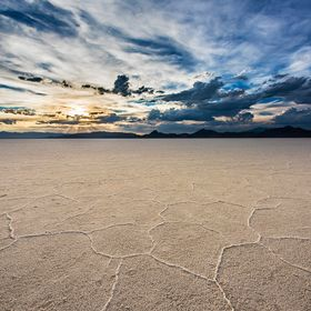 I drove to see the salt flats with my wife while on our trip across the United States. I waited until the sunset to take this shot, because the s...