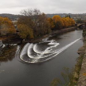 Bath weir from above