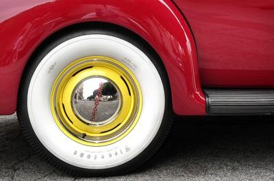 Whitewall on Yellow Wheel