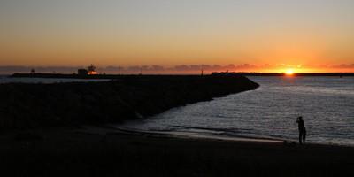 Sunrise over Newcastle Harbour