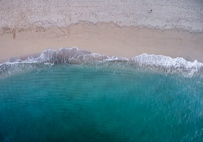 The Beach from above