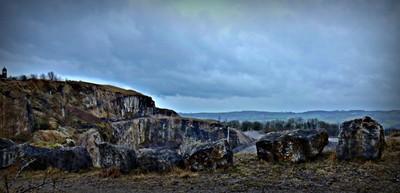 Crich quarry edge Derbys