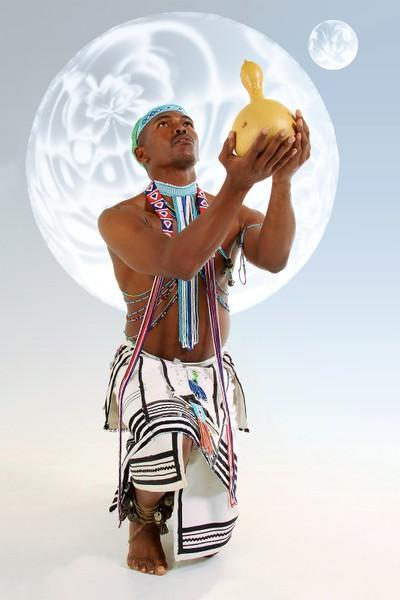 Xhosa Man with beer calabash