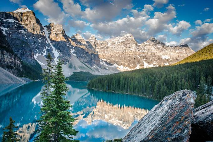 Moraine Lake Sunrise by bkendall - Layered Compositions Photo Contest