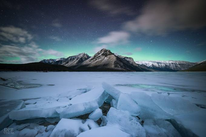 Aurora Ice Glow by DPBVisual - Our Natural Planet Photo Contest