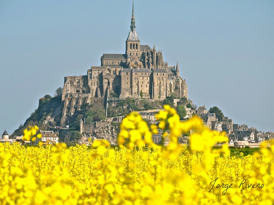 A different perspective of the surreal and awesome Mont Saint Michel, one of the world wonders.