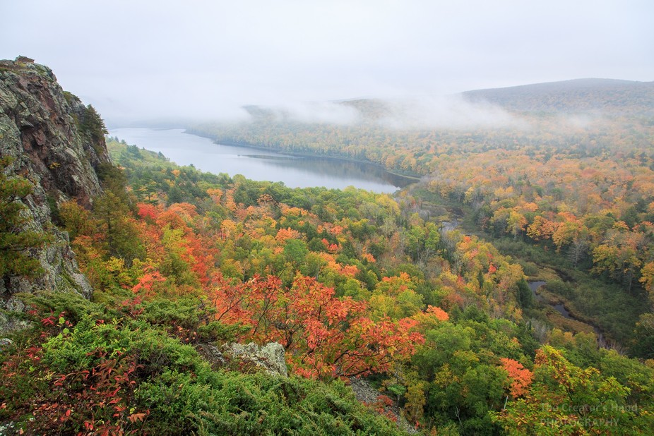 Lake of the Clouds in Porcupine Mountains Wilderness State Park in Michigan's Upper Peni...