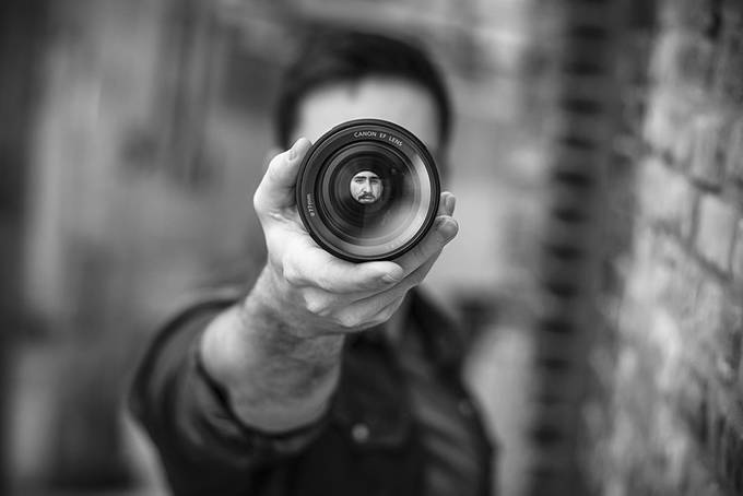 Through The Lens by kylere - Selfies In Black and White Photo Contest