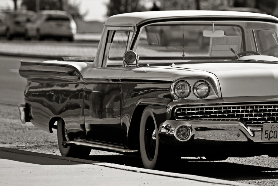 I love old cars, especially when they are cleaned up nice and have white walls.
