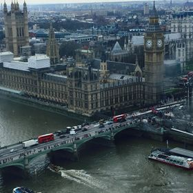 It is took from he top of the London eye. It views parliament and the government side of London.