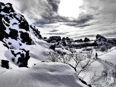 Lava icy field
