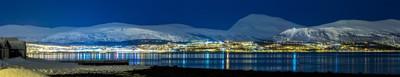 Night-time panorama of Tromsoe, Norway