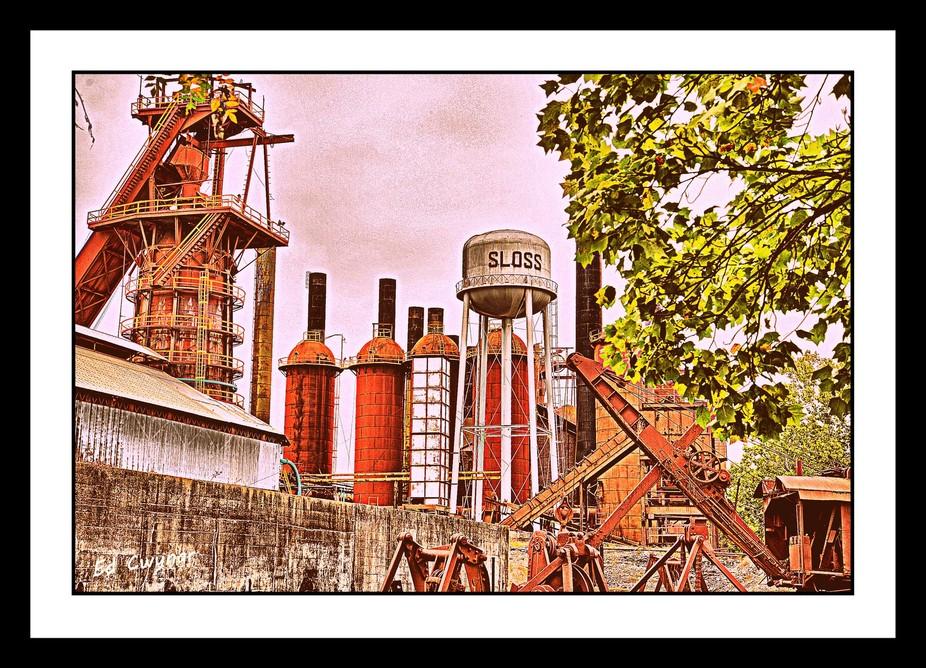 Image was taken of Sloss Furnace in Birmingham, Alabama.