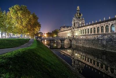 Dresden Zwinger Night Walk
