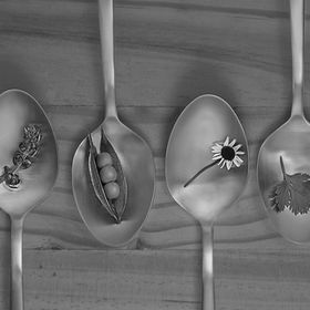 Spoon, Food, Black and White, Bokeh, Raw