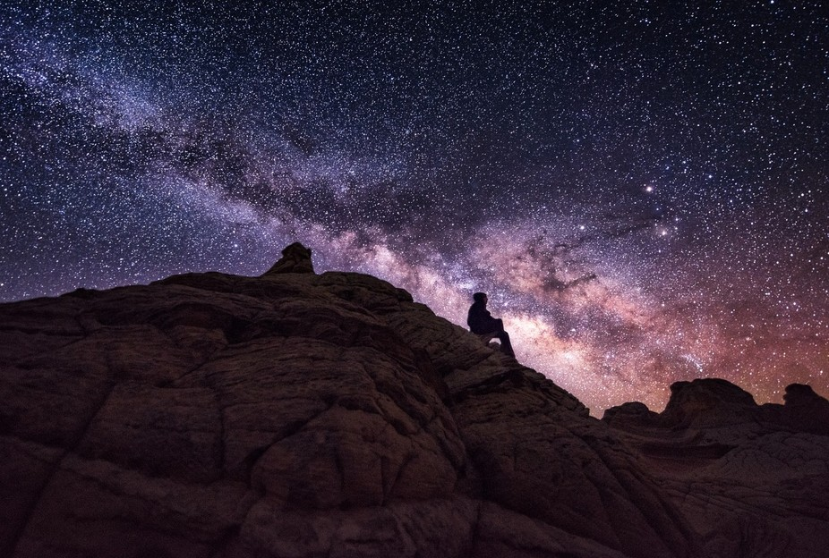 Milky way over White Pocket,AZ