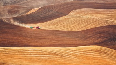 Working the fields in the Palouse