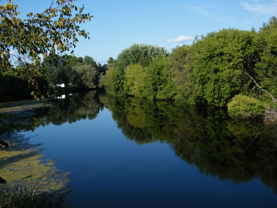 The Jock River, Village of Richmond, Ontario. Just exploring on Labour Day. Such sapphire peace! ...
