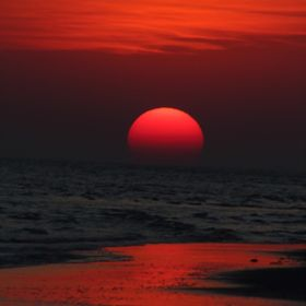 Sunset at Mandvi This picture was taken on my recent visit to India in the State of Gujarat. There was nothing but the ocean between the sun and ...