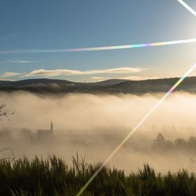 It was a misty morning in the Highlands od Scotland so I climbed up the hill to capture this